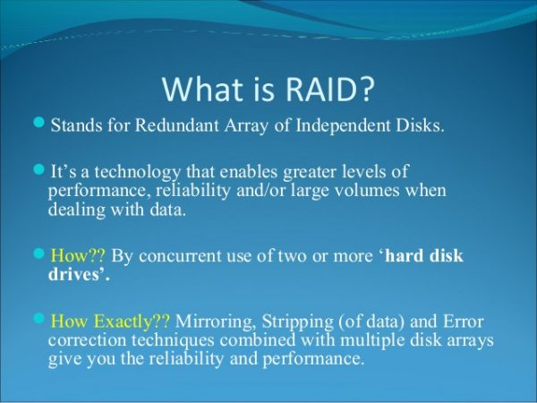 What is RAID Redundant Array of Independent Disks in HIndi