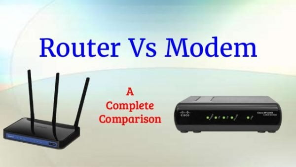 What is the difference between router and modem router vs modem